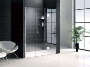 Bathroom glass doors design